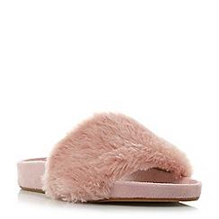 Dune - Blush 'Lush' fluffy faux fur slider