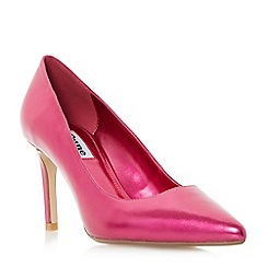 Dune - Bright pink 'Abbigail' pointed toe mid heel court shoes