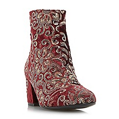Dune - Multicoloured 'Opulent' embroidered block heel ankle boot