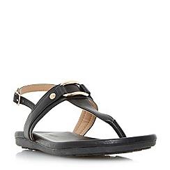 Roberto Vianni - Black 'Larner' sporty sole toe post sandals