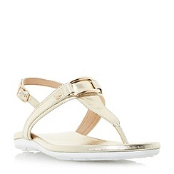 Roberto Vianni - Gold 'Larner' sporty sole toe post sandals