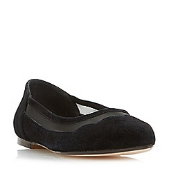 Dune - Black 'Bonnee' scallop mesh flat slip on shoes