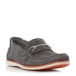 Dune - Grey 'Bronn' snaffle bit contrast sole loafers