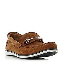 Dune - Tan 'Bronn' snaffle bit contrast sole loafers