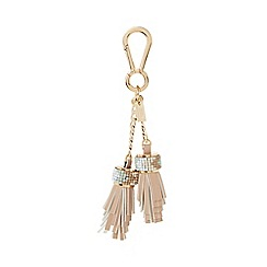 Dune - Natural 'Shellie' beaded tassel bag charm