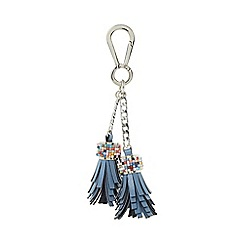 Dune - Blue 'Shellie' beaded tassel bag charm