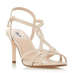 Dune - Natural 'Miniee' strappy mid heel sandals