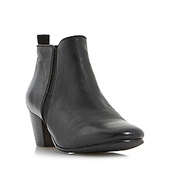 Dune - Black 'Perdy' block heel ankle boots