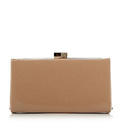 Roland Cartier - Natural 'Bayliss' embellished clasp hard case clutch bag