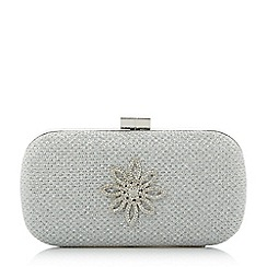 Roland Cartier - Silver 'Blousie' brooch detail box clutch bag
