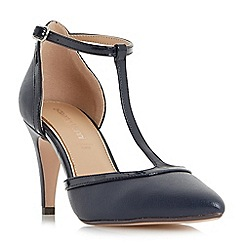 Roberto Vianni - Navy 'Charlot' t-bar mid heel court shoes