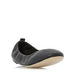 Dune - Black 'History' elasticated topline ballerina shoes