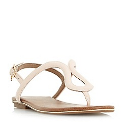Dune - Natural 'Lexy' loop strap flat sandals