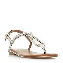 Dune - Gold 'Lexy' loop strap flat sandals