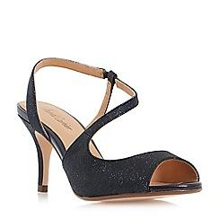 Roland Cartier - Navy 'Mariel' asymmetric  strap sandals