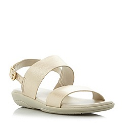 Roberto Vianni - Gold 'Linby' flat double strap sandals