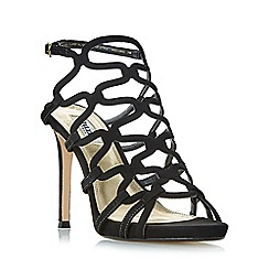 Dune - Black 'Meemie' looped caged high heel sandals