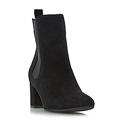 Dune - Black 'Ola' block heel chelsea boot