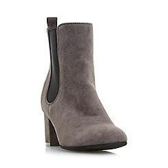 Dune - Grey 'Ola' block heel chelsea boots