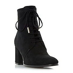 Dune - Black 'Olita' lace up block heel ankle boot