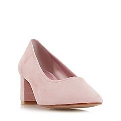 Dune - Light pink 'Ana' unlined block heel court shoes
