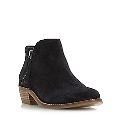 Dune - Black 'Pollyanna' side zip ankle boots