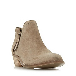 Dune - Taupe 'Pollyanna' side zip ankle boots