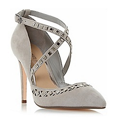 Head Over Heels by Dune - Grey 'Cosmos' embellished cut out court shoes
