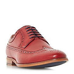 Dune - Red 'Prague' piped edge brogue shoes