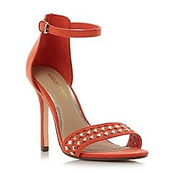 Head Over Heels by Dune - Orange 'Marria' embellished cut out two part sandals