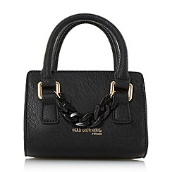 Head Over Heels by Dune - Black 'Hennerson' chain detail top handle micro bag