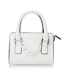 Head Over Heels by Dune - White 'Hennerson' chain detail top handle micro bag