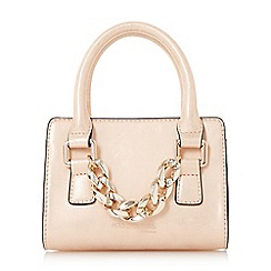 Head Over Heels by Dune - Rose 'Hennerson' chain detail top handle micro bag