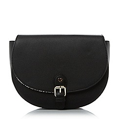 Head Over Heels by Dune - Black 'Honnor' metal trim saddle bag