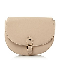 Head Over Heels by Dune - Natural 'Honnor' metal trim saddle bag