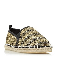 Head Over Heels by Dune - Black 'Gindy' striped espadrille shoes