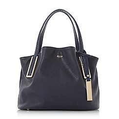 Dune - Navy 'Dolliss' slouchy double top handle bag