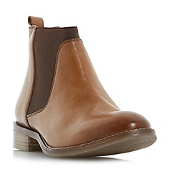 Dune - Tan 'Quote' flexi sole chelsea boots