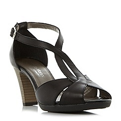 Roberto Vianni - Black 'Julias' comfort cross strap t-bar mid sandals