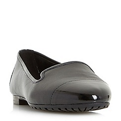 Dune - Black 'W geneveve' wide fit toecap detail slipper cut shoes