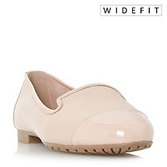 Dune - Light pink 'W geneveve' wide fit toecap detail slipper cut shoes