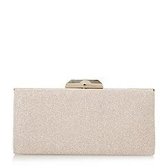 Dune - Light pink 'Barrbie' rectangular hard case clutch bags