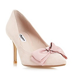 Dune - Light pink 'Bow' bow trim pointed toe court shoes