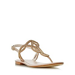 Dune - Light pink 'Nea' embellished toe post sandals