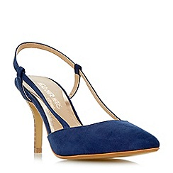 Head Over Heels by Dune - Navy 'Carris' slingback pointed toe court shoes