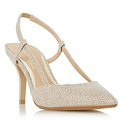 Head Over Heels by Dune - Gold 'Carris' slingback pointed toe court shoes