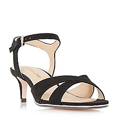 Roland Cartier - Black 'Morticia' kitten heel cross strap sandals