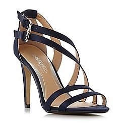 Head Over Heels by Dune - Navy 'Mulin' double buckle strappy sandals