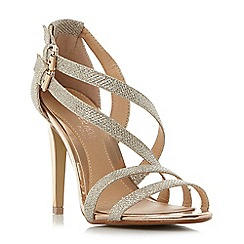 Head Over Heels by Dune - Gold 'Mulin' double buckle strappy sandals