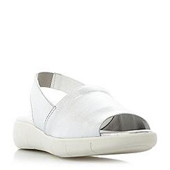 Roberto Vianni - Silver 'Laurel' sporty slingback sandals
